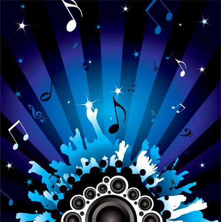 modern background with a disco theme with speakers Vector