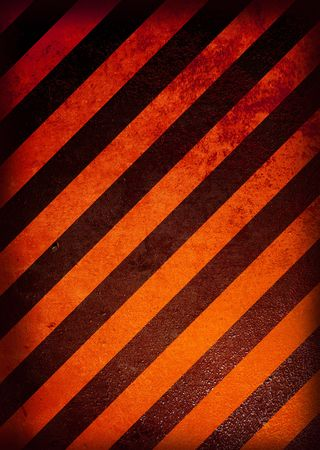 diagonal stripes: Grunge black and orange warning background with grunge effect