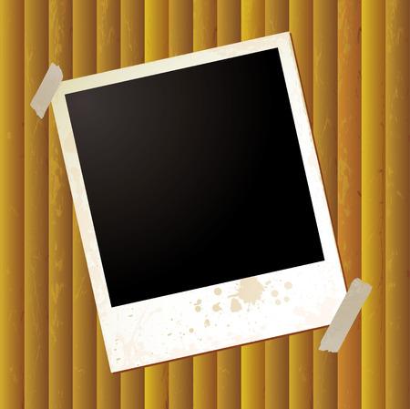 rippled: Grunge effetto polaroid su sfondo dorato ondulato