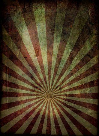 radiating: Irradiante grunge background in rosso e con un effetto subito