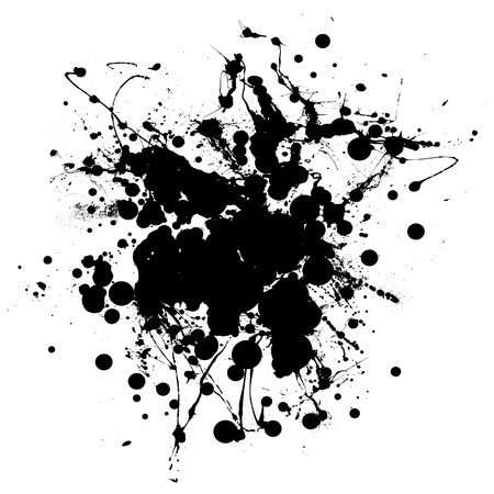 Black and white ink splat with room to add copy Vector