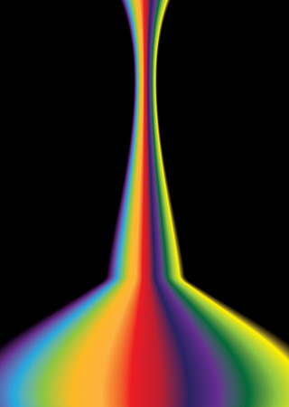 bright coloured rainbow effect background with copy space Vector