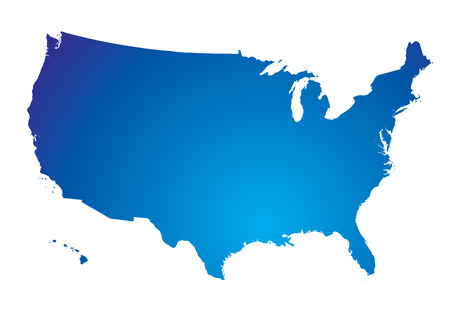 Illustration of the north american land mass in blue Stock Vector - 3820427