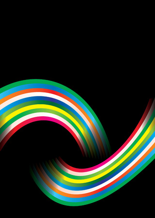 Colourful bright rainbow background with copy space Vector