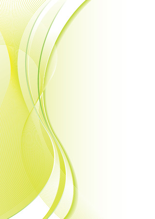 web2: Abstract green and white background with flowing lines and copy space