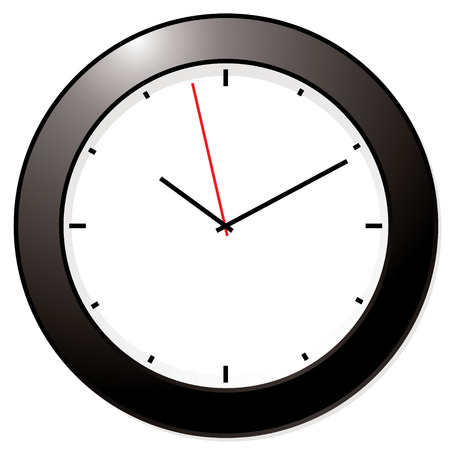 tock illustration: Clean and simple black and white clock