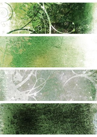 Green and white natural grunge background Stock Photo - 4097538
