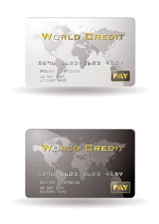 personalausweis: Zwei Kreditkarten mit Schatten
