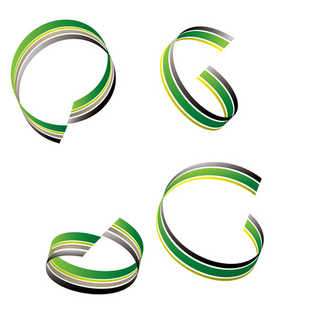 Fluid ribbon flowing in a circular design in green and black Stock Vector - 4277687