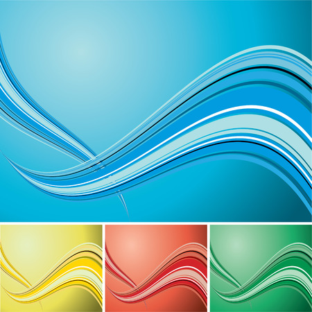 Light colored wave designed background with copy space Vector