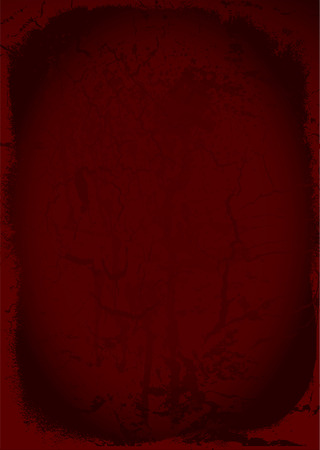 maroon background: Grunge maroon background with worn border and weathered effect Illustration