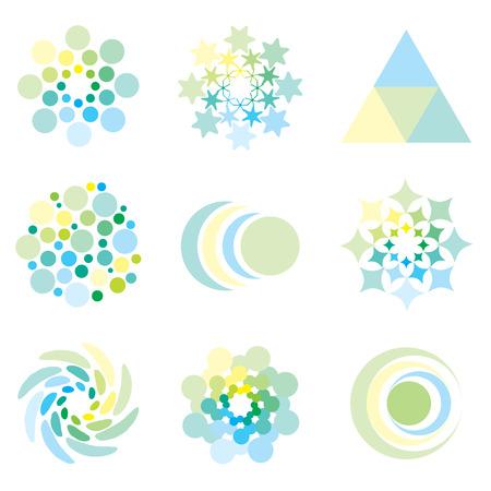 pastel colours: Icono de elementos de dise�o en colores pastel p�lido ilustrado