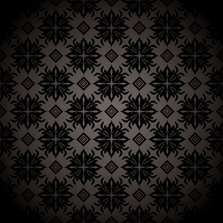 Black and gray wallpaper design with seamless repeating design Vector