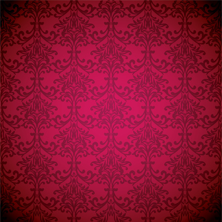 Magenta floral inspired wallpaper background with seamless repeat design Stock Vector - 4358532