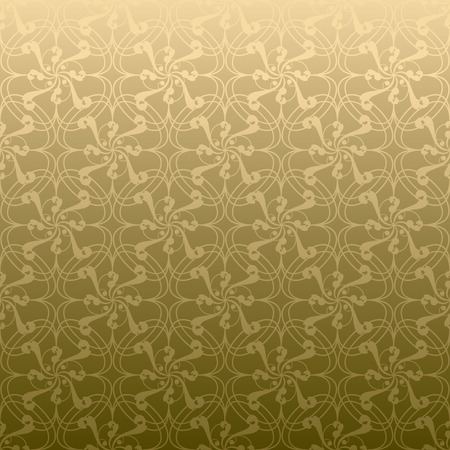 bloat: Golden swirl design that seamlessly repeats without a join Illustration
