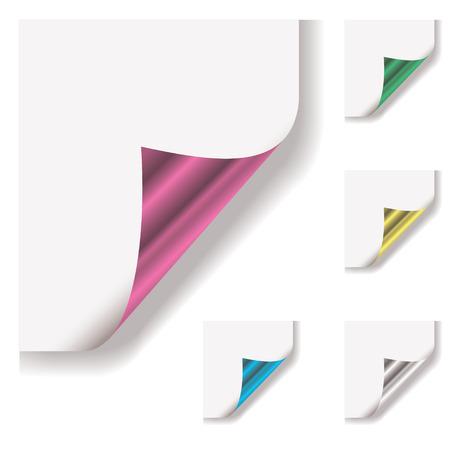 tornitura: raccolta di pagina con riccioli di metallo spalle e ombra