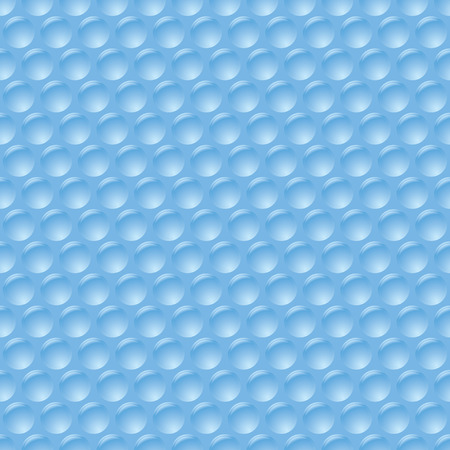 illustrated bubble wrap with unpopped plastic protection sheet Vector