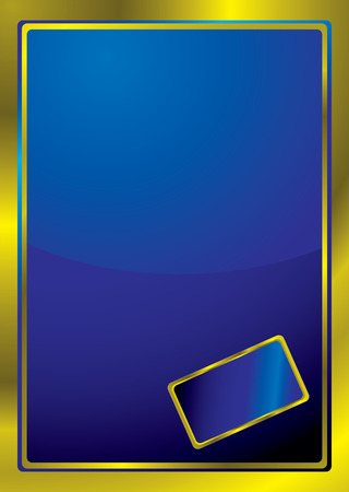 Blue background with a golden border and area to add text Stock Vector - 4484895