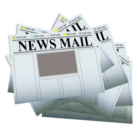 Pile of newspapers with blank areas to add your own text and images Stock Vector - 4504850