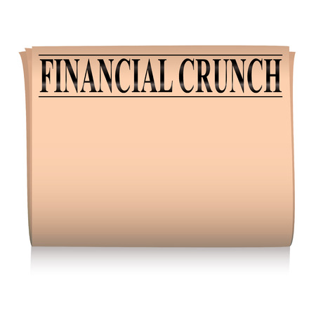 broadsheet: salmon pink financial newspaper with room to add your own text Illustration
