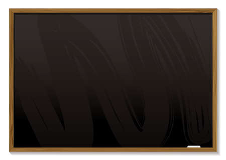 wipe: Black board with a wooden frame and room to add your own copy