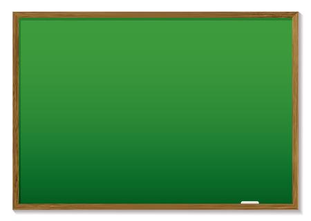 board room: Pizarr�n verde con marco de madera y espacio para agregar texto Vectores