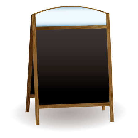 could: double sided chalkboard that could be used to advertise a shop or pub Illustration