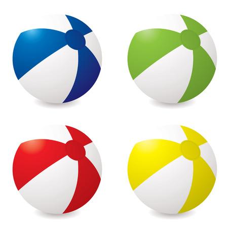 inflar: Colecci�n de cuatro pelotas de diferentes colores con gota de sombra