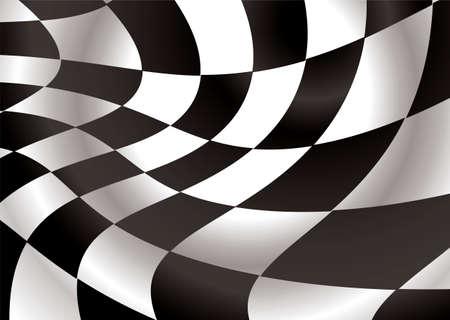 checker flag: bandera batiendo en el viento blanco y negro con plazas