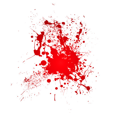 spatter: Inky blood splat with a red abstract shape