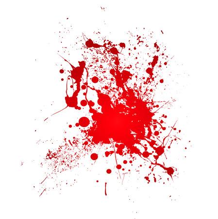 blutspritzer: Inky Blut Splat mit einem roten abstrakte Form Illustration