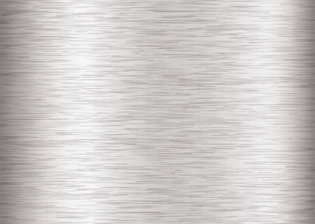 brushed steel: Silver steel background with metal grain and stroke effect Illustration
