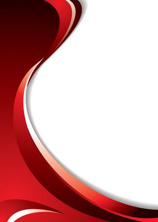 digital wave: Matices de fondo rojo con l�neas fluidas y espacio para a�adir el texto