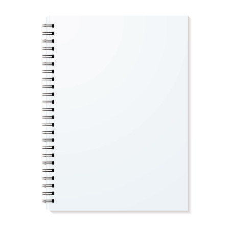 Blank ring binder with shadow and single pages