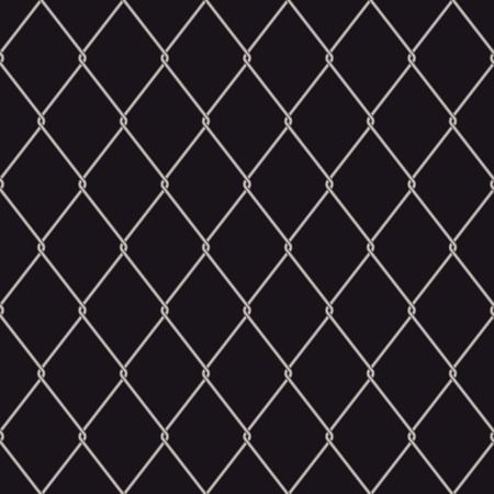 Seamless wire fence with a black background and repeat design Stock Vector - 4590605