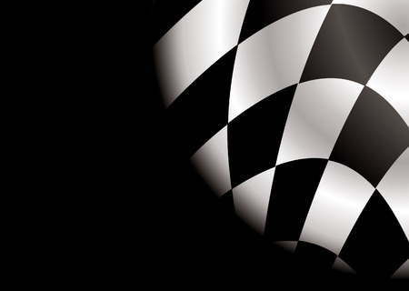 checkered black and white flag ideal as a formula race car background Stock Vector - 4604800