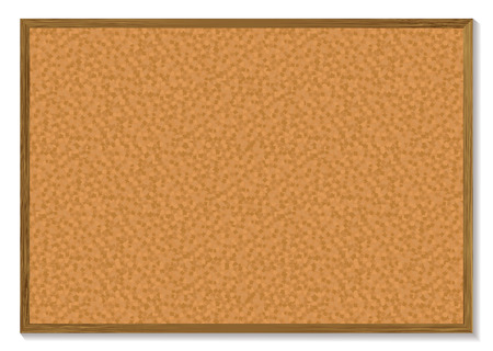 corkboard: Cork pin board with a wooden frame and a shadow