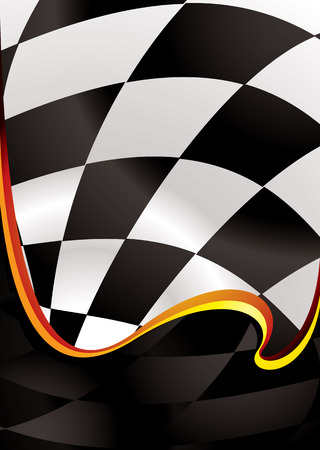 checker flag: checkered flag background with wave effect and room to add copy