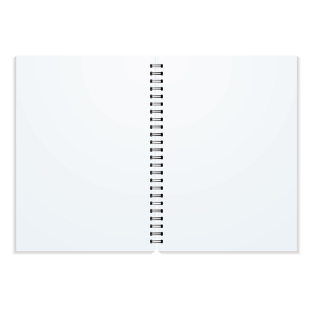 double page: Blank double paged ring binder with drop shadow and copy space