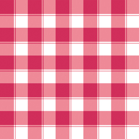 Traditional red and white checked seamless pattern background Vector
