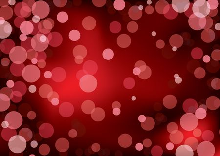 Red abstract background with blured lights and copy space