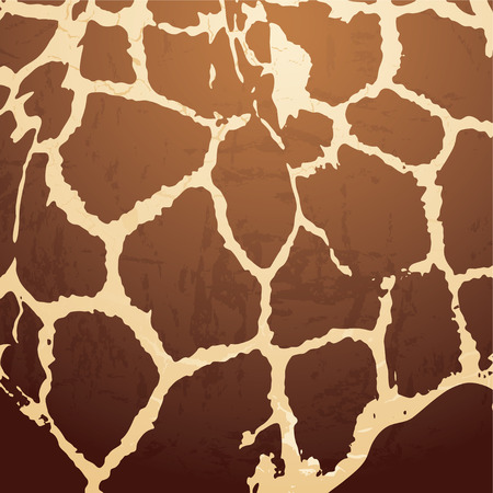 brown Animal skin background with a textured effect Vector