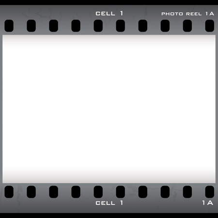 Single negative film cell with copy holder and copyspace Vector