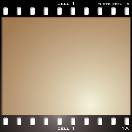 esporre: singola foto cella con effetto invecchiato marrone seppia e copia spazio Vettoriali