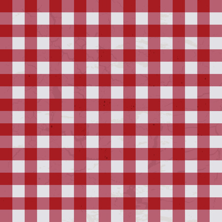 tissu blanc: Rouge et blanc textur� nappe id�ale qui fera de fond Illustration