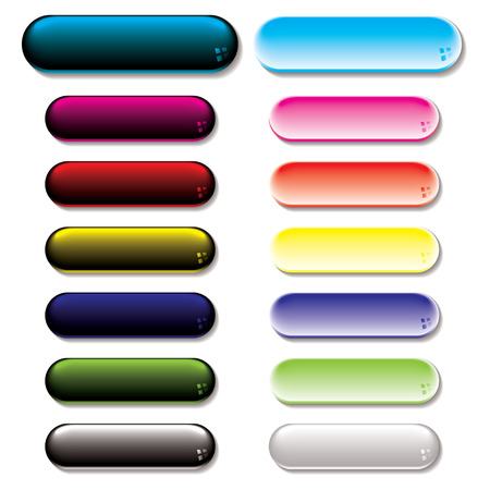 lozenge: Collection of colorful gel filled buttons with shadow effect Illustration