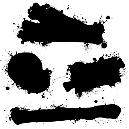 dribble: Ink splat dribble shapes with copyspace with room for text Illustration