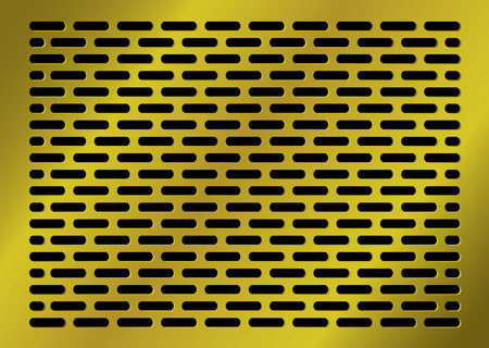 golden abstract background with lozenge shaped holes in black Stock Vector - 5011014