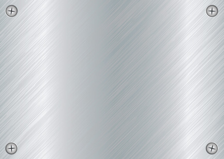 brushed: abstract Brushed silver metal background with cross head screws