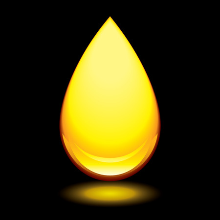 lubricant: Golden amber droplet with outer glow and black background